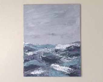 Abstract landscape painting, acrylic painting, textured landscape painting, abstract art, seascape