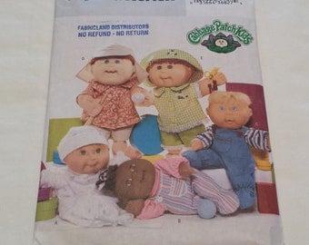CABBAGE PATCH KIDS Butterick #3932 Uncut Pattern 2003 Doll Clothes