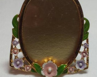 Small Vintage Picture Frame Taiwan Floral Brass Like Cute Frame Tiny Frame