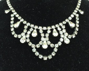 New Price*Weiss Fabulous Festoon Bib Rhinestone Necklace
