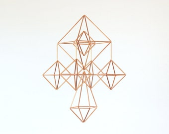 Copper Himmeli Mobile
