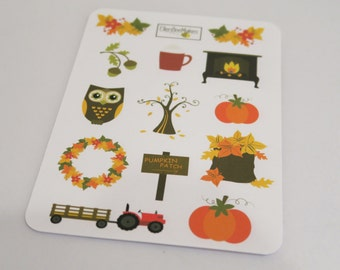 Autumnal Themed Sticker Sheet