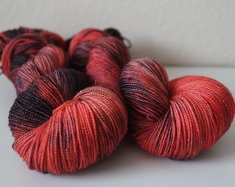 Volcano Girls on Twinkle Sock - Hand Dyed Yarn