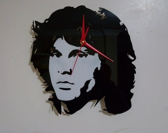 Jim Morrison The Doors Silhouette Clock