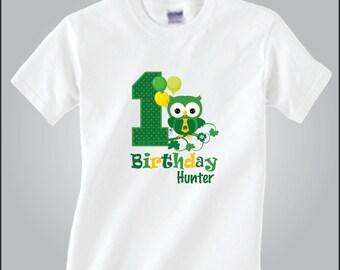 Personalized Owl Birthday St Patrick Day Shirt St Patrick Owl Birthday Shirt