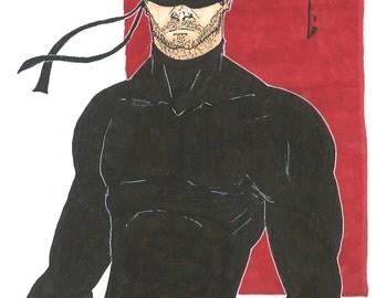 Marvel Daredevil The Man Without Fear Original Pinup Artwork