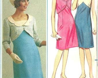 Butterick vintage 1960s sewing pattern 3503 mod dress and jacket - Size 10