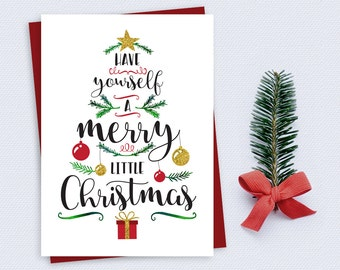 Christmas Card - Have yourself a merry little Christmas - Instant Download - Printable Christmas Card