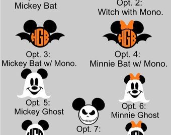 Magic band decals for Halloween