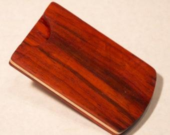 Bloodwood Business Card Holder
