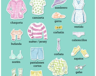 La Ropa - 'The Clothes' Spanish Teaching Poster