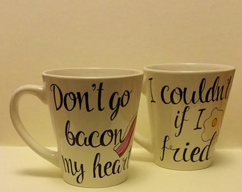 Bacon & Eggs Mug Set - Couples Mugs
