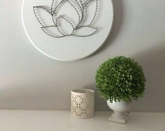 Lotus, modern, minimalist, living room wall art, bedroom wall art, 3D wall art, unique home decor, spiritual art, boho, wood wall art, gift
