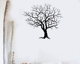Wall Vinyl Decal Tree Nature Landscape Decor Minimalism Modern Focal Point for Your Living Room (#1049di)