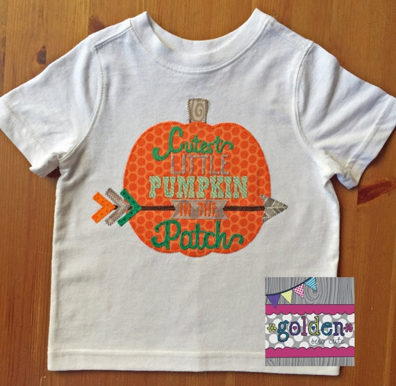 Halloween Cutest Little Pumpkin in the Patch Boy Tee, Boy Shirt, Onesie