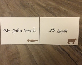 Custom Place Cards