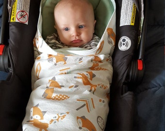 Car Seat Swaddle Blanket - Made to Order