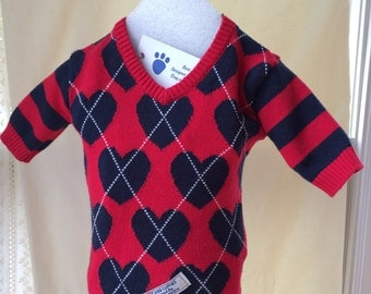 Dog Sweater,  Warm Sweater,  Boy Dog Sweater,  Dog Clothes,  Puppy Clothes,  Pull over,  Outer Wear, Pet Clothing