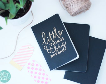 Custom Hand-Lettered Moleskine Journal