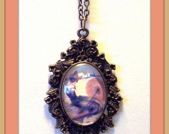 Mermaid Cabochon Necklace