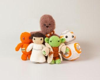 Star Wars Crochet Patterns Free Leia Crochet Star Wars Toys Chewbacca Amigurumi Star Wars C3PO Crochet Pattern INSTANT DOWNLOAD P035