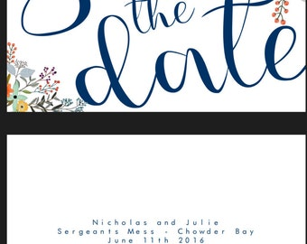 Custom save the date cards - Instant Download