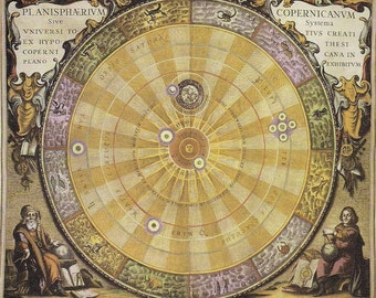 Copernicus Sky - The Planisphaerium Copernicanum, a print for sky gazers, a gift for astronomers, a gift for sky watchers, beautiful print