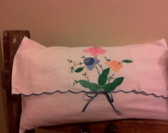 Embroidered Envelope Style Pillow
