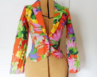 Tropical print Avon Fashions blazer