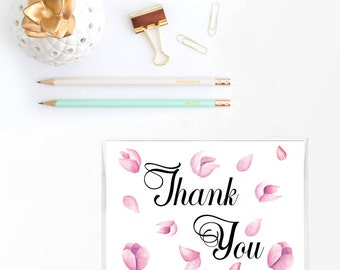 Thank you cards set, Wedding thank you cards, Greeting card set, Stationery set, stationary set, Note card set