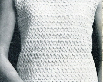Crocheted Lacy Top & Skirt  Pattern PDF Instant Download