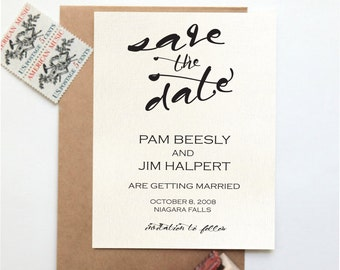 Printable Save The Date Card - Minimalist/Vintage/Antique/Clean - Customizable