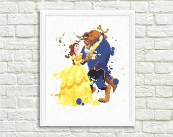 Beauty and the Beast Wall Art ,Printable Art, Inspirational Quote, Typography Art, Digital Prints,Wall Art Prints, Digital Download