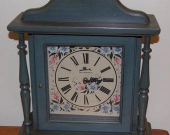 Three Mountaineers Blue Mantle Clock