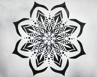 flower mandala Reusable Plastic stencil