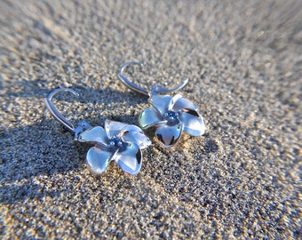 Small Sterling Silver Aromatherapy Flower Earrings