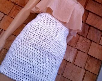 Crochet High Waisted Mini Skirt