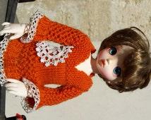 BJD YOSD: dress orange and lace