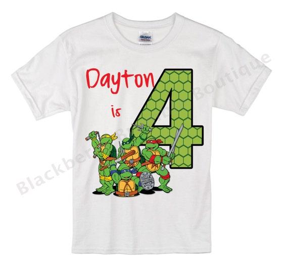 Ninja Turtles Birthday Shirt By Sonshineandblue On Etsy
