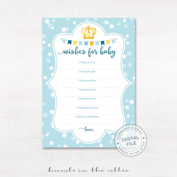Baby Shower Message For Card: Baby Shower Wishes Card, Wishing Well Wishes For Baby