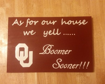 OU wood sign, Boomer Sooner, Oklahoma University Home Decor, Oklahoma Sooner Sign, Man cave decor, gallery wall decor, Oklahoma sign