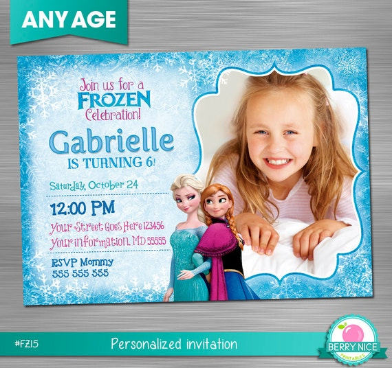 FROZEN INVITATION Frozen Birthday Invitation Frozen Party