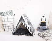 Tent for dog  black and white stripes (Standard size)