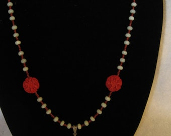 Amazonite & Cinnabar Necklace