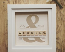 ... Wedding Gift, Personalised Frame, Engagement Gift, Wedding Present