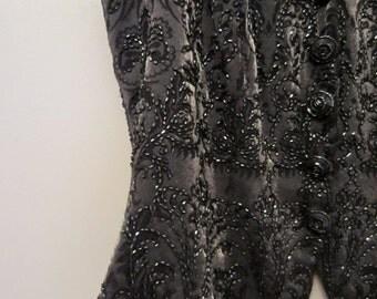 Vintage Carmen Marc Valvo Beaded Dressy Vest Size 8