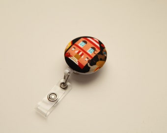 Peach House Kawaii Retractable ID Badge Reel - FREE SHIPPING with another purchase - Name Badge, Tag, Nurse , Teacher Badge Holder