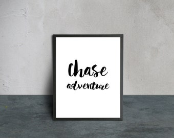 4 Quotations Wall Art / black and white