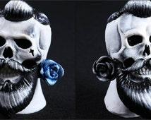 Rockabilly / Hipster / Skull / Blue October Display SMALL SIZE