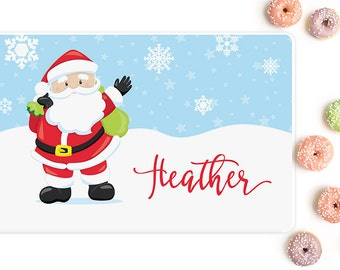 Christmas placemats, Personalized placemat, Santa Claus, Presents, Gifts for kids, Placemats for kids, Kids placemats, Mealtime, PM09